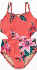 OLD NAVY ONE PIECE CUT-OUT SWIMSUIT SIZE LARGE